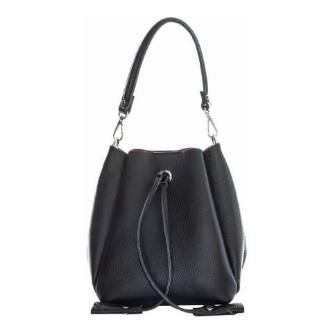 Sofia Cardoni Black Leather Top Handle Bag