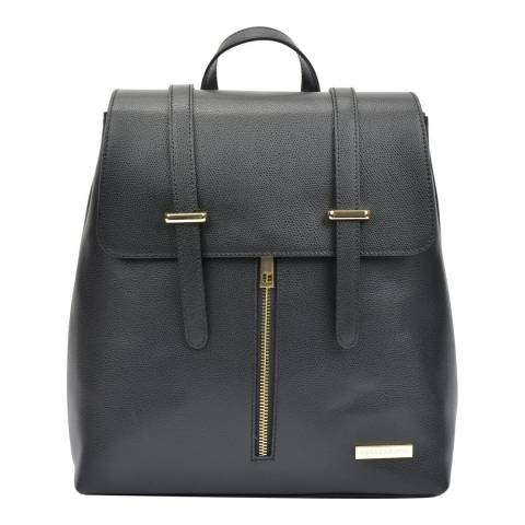Sofia Cardoni Black Leather Backpack