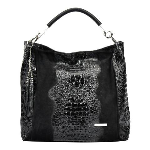 Sofia Cardoni Black Leather Hobo Bag