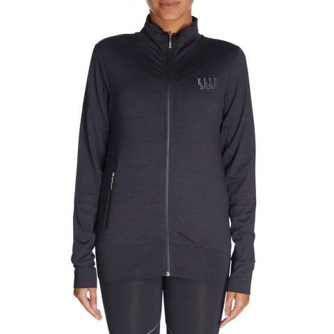 Elle Sport Charcoal Marl Zip Through Jacket
