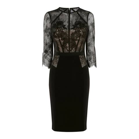 Karen Millen Black Lace Pencil Dress