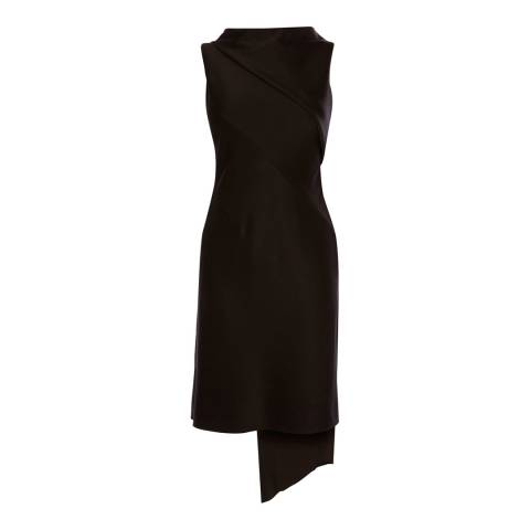 Karen Millen Black Asymmetric Shift Dress