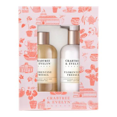 Crabtree & Evelyn Freesia Bath & Body Duo 2 x 300ml
