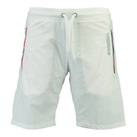Geographical Norway Men's White Quasweet Swim Shorts