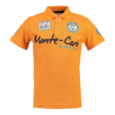 Geographical Norway Men's Orange Komen Short Sleeve Polo