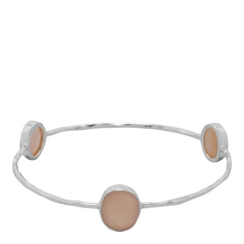 Alexa by Liv Oliver Silver Moonstone Bangle