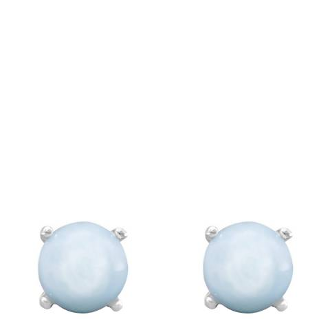 Alexa by Liv Oliver Blue Larimar Gemstone Stud Earrings