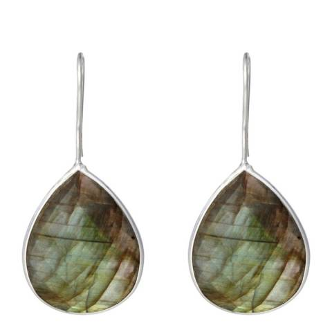 Alexa by Liv Oliver Labradorite Drop Earrings