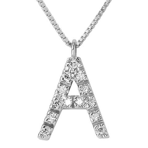 Only You Silver/Diamond 'A' Letter Neckalce