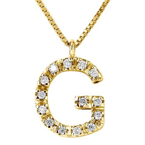 Only You Gold/Diamond 'G' Letter Neckalce
