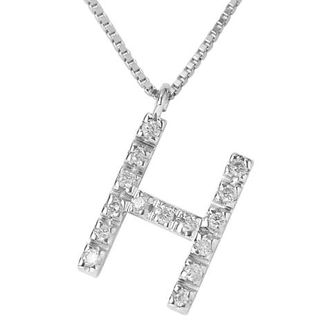 Only You Silver/Diamond 'H' Letter Neckalce