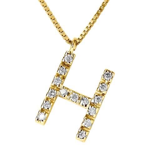 Only You Gold/Diamond 'H' Letter Neckalce
