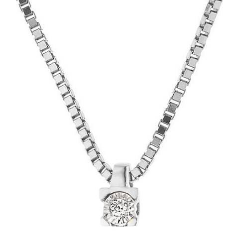 Only You Silver/Diamond Link Neckalce