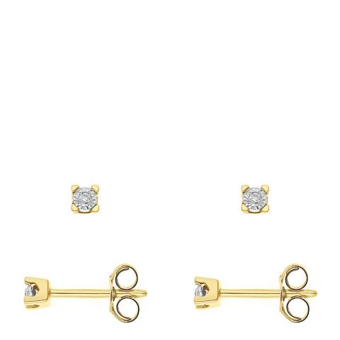 Only You Gold Diamond Stud Earrings 0.02 Cts