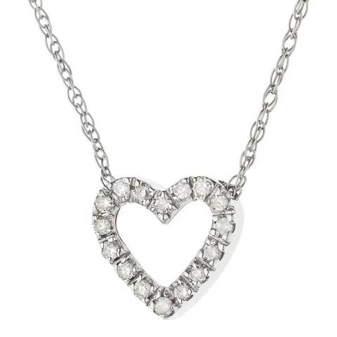Only You Silver/Diamond Love Heart Necklace