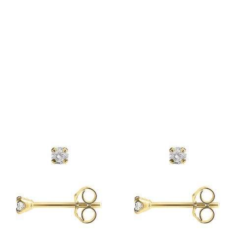 Only You Gold Diamond Stud Earrings 0.10 Cts