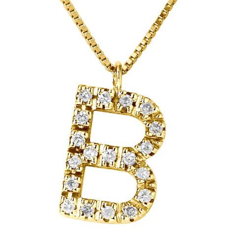 Only You Gold/Diamond 'B' Letter Necklace