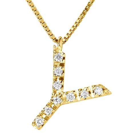 Only You Gold/Diamond 'Y' Letter Necklace
