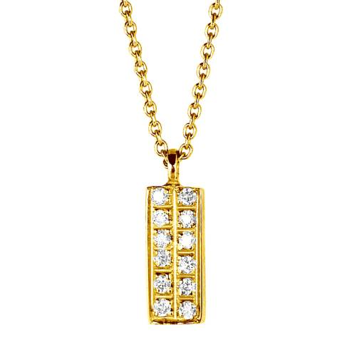 Only You Gold Diamond Bar Necklace