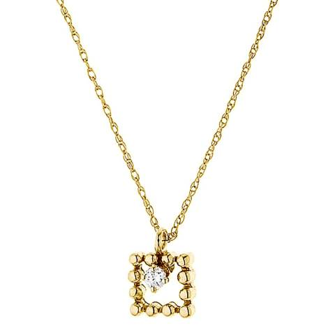 Only You Gold/Diamond Square Necklace