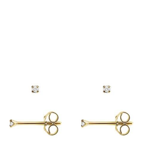 Pretty Solos Gold Diamond Stud Earrings 0.04 Cts