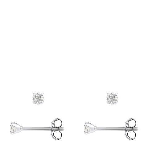 Only You Silver/Diamond Stud Earrings
