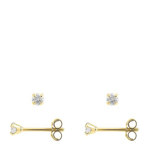 Only You Gold/Diamond Stud Earrings