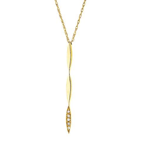 Pretty Solos Gold/Diamond Twist Necklace
