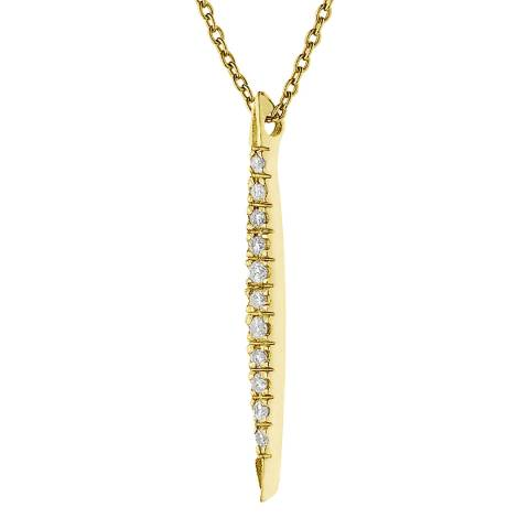 Only You Gold/Diamond Drop Necklace