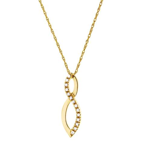 Only You Gold/Diamond Looped Necklace