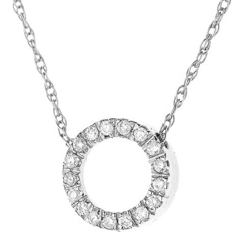 Only You Silver/Diamond Circle Necklace