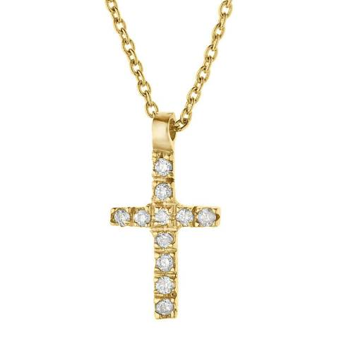Only You Gold/Diamond Cross Necklace