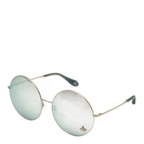Vivienne Westwood Women's Silver Round Sunglasses