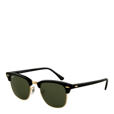 Ray-Ban Men Black Clubmaster Classic Sunglasses 56mm
