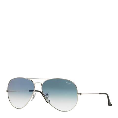 Ray-Ban Men's Silver Aviator Gradient Sunglasses 58mm