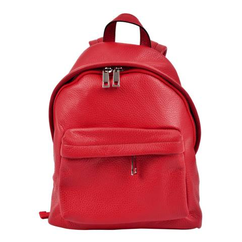 Roberta M Red Leather Backpack