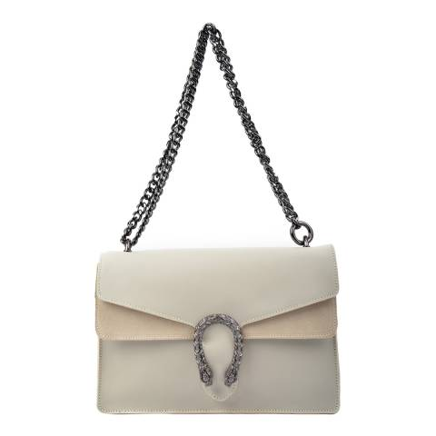 Isabella Rhea Beige Leather Shoulder Bag