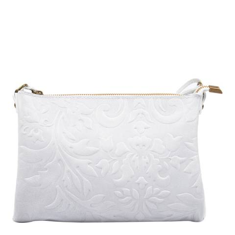 Carla Ferreri White Leather Crossbody Bag