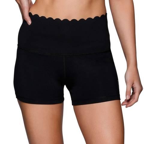 Lorna Jane Black Lush Scallop Core Shorts