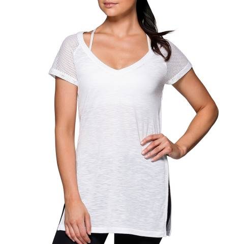 Lorna Jane White Time Out T-Shirt