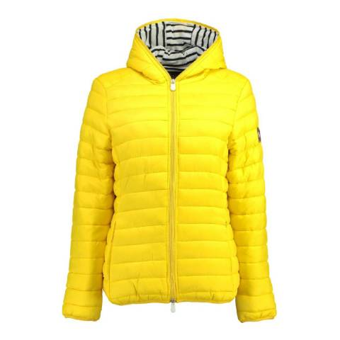 Geographical Norway Women's Yellow Dinette Hood Jacket