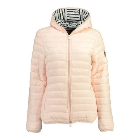 Geographical Norway Women's Pink Dinette Hood Jacket