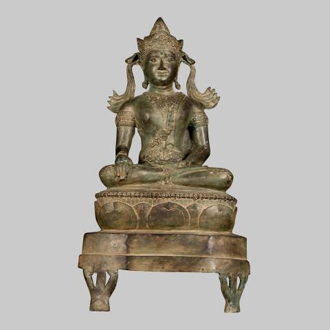Eastern Treasures 19th Century Chiang Saen Enlightenment Buddha Statue