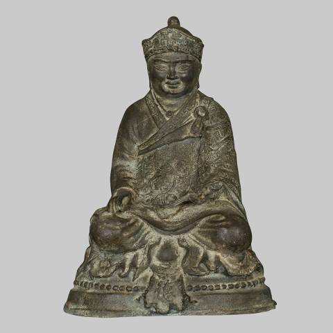 Eastern Treasures 19th Century Antique Chinese Teaching Buddha Statue