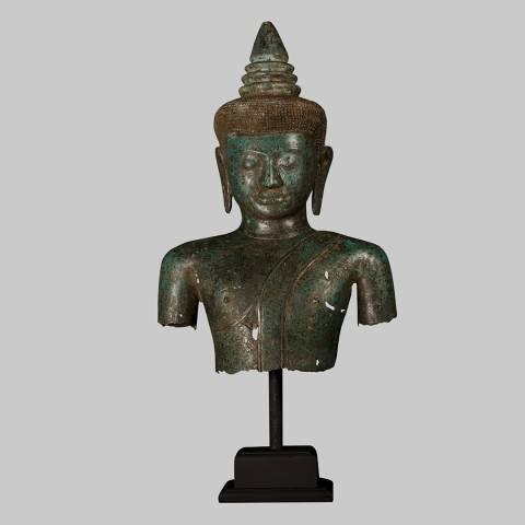 Eastern Treasures 19th Century Khmer Gautama Buddha Torso