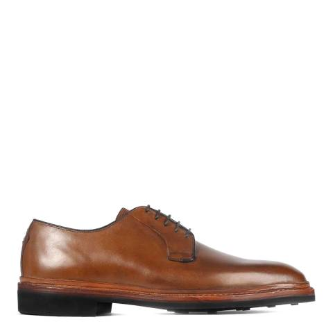 Oliver Sweeney Light Brown Leather Carteret Derby Shoes