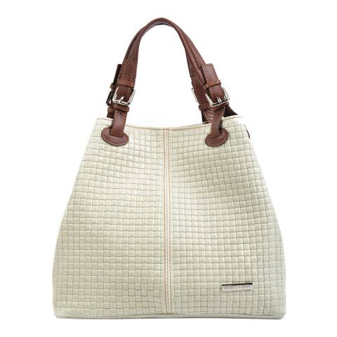 Giorgio Costa Beige Leather Shopper Bag
