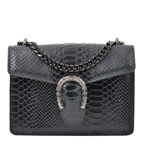 Giorgio Costa Black Snakeskin Cross Body Bag