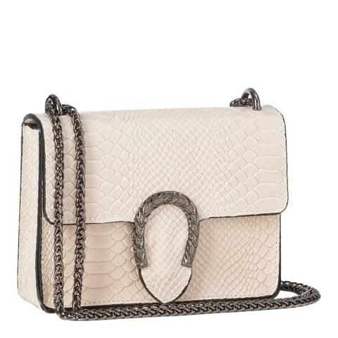 Giorgio Costa Blush Pink Snakeskin Cross Body Bag