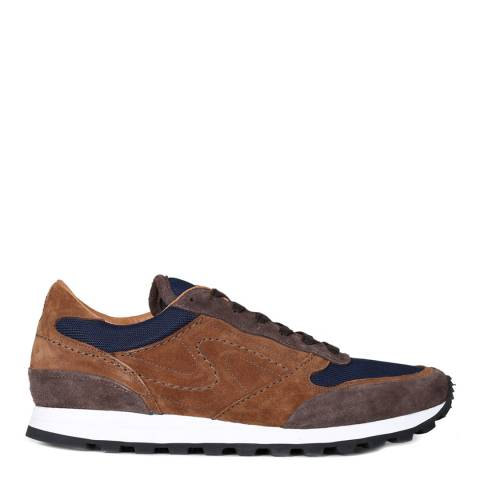 Oliver Sweeney Brown Suede/Mesh Vilamoura Running Trainers
